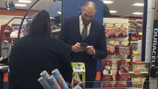 At the checkout: Tyson Fury