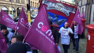 National steel protest in Sheffield