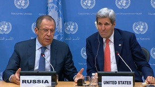 Russia's Sergei Lavrov and US Secretary of State John Kerry spoke at a joint news conference