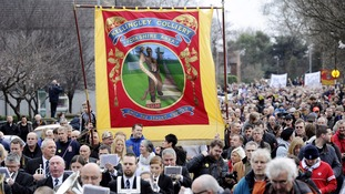 Thousands march the day after Kellingley Colliery closed marking the end of an era for the coal industry.
