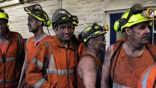 Miners ended their last shift at Kellingley Colliery on Friday.