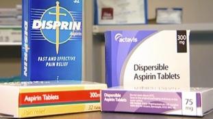 Aspirin boxes