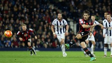 Charlie Daniels fires home Bournemouth's 87th-minute winner from 12 yards