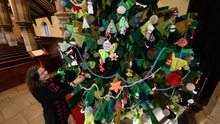 Kings Heath church knits 17ft high Christmas tree