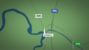 The accident happened on the A38 near Dunball