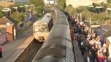 Trains at station