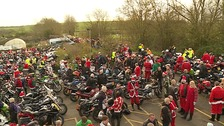 Hundreds of bikers took part in the event.