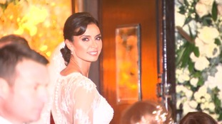 Stars arrive at Christine Bleakley and Frank Lampard's glamorouschurch wedding