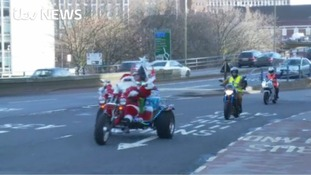 Hundreds of bikers drove across the Midlands to deliver presents.