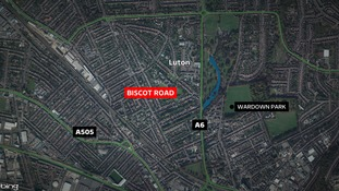 The incident happened in Biscot Road.