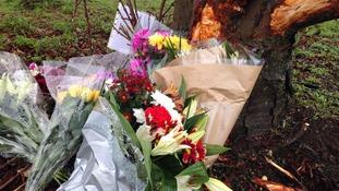 Flowers laid at scene of fatal crash in Bridgwater