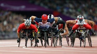 Great Britain's David Weir during the Men's 5000m - T54 Round 1