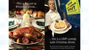 This is not just a Christmas dinner: Greater Manchester Police send out warning to would-be offenders in M&S mock-up