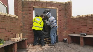 Miners memorial at Kellingley Colliery is dismantled