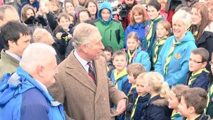 Prince Charles visits Cumbrian communities hit by Storm Desmond floods
