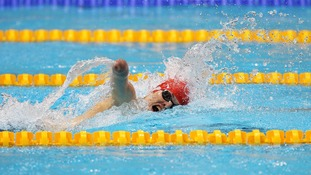 Great Britain's Thomas Young during the men's 400m Freestyle S8 heat 2