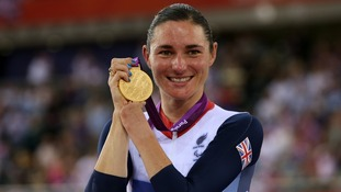 Sarah Storey with her Gold Medal after winning the Women's Individual C5 Pursuit Finals