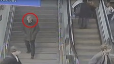 Police have released CCTV of a man whose relatives they are trying to trace