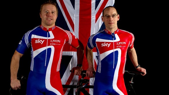 Paralympic cyclists Craig Maclean (left) and Anthony Kappes