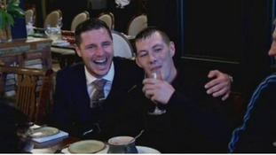 Hull boxer Tommy Coyle serves up lunch to the city's homeless