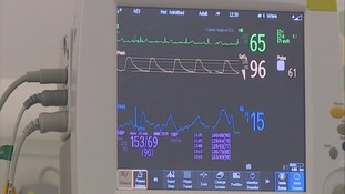 A heartbeat monitor screen