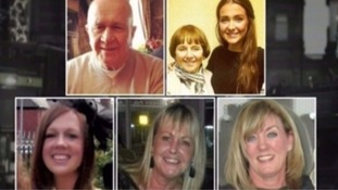 Jack Sweeney, Lorraine Sweeney with grand-daughter Erin McQuade, Stephenie Tait, Gillian Ewing and Jacqueline Morton.