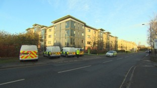 A large area near the Charlton Court student accommodation block in Lower Bristol Road was cordoned off following the assault