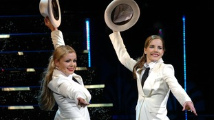 Darcey Bussell performing with Katherine Jenkins