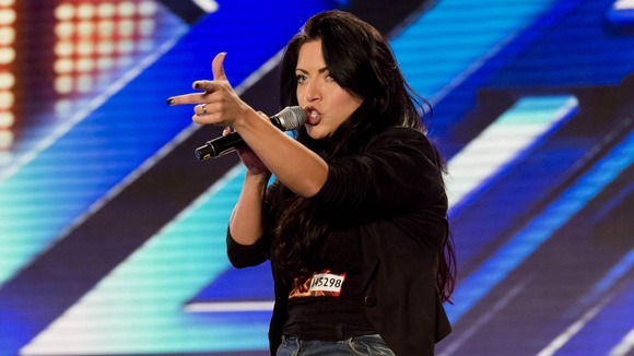 Nicola Marie Bloor as she performs during the Manchester auditions for this year's X Factor.
