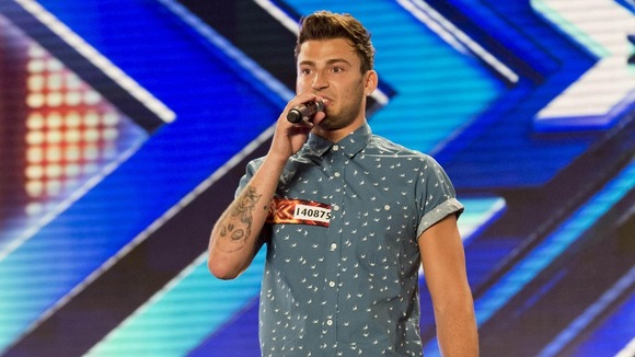 Jake Quickenden as he performs during the auditions for this year's X Factor