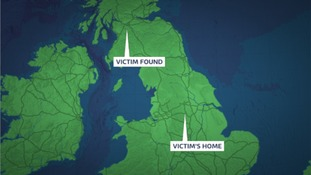 Victim was driven 250 miles to Scotland
