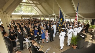 The private memorial service for Neil Armstrong
