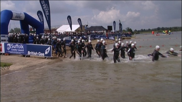 Start of the Great East Swim at Alton Water in Suffolk in 2011.