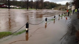 The River Eden bursts its banks