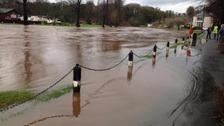 The River Eden bursts its banks
