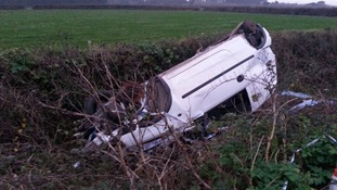 Campaigners bid to gain UNESCO World Heritage status for overturned Vauxhall Corsa