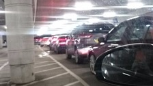 Queueing cars at Bluewater