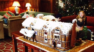 A gingerbread replica of Shakespeare's birthplace.