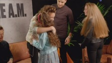 One Direction hugs for Rachel and Kate.
