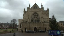 Funeral at Exeter Cathedral