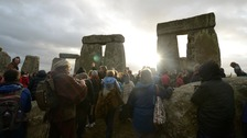 Thousands have gathered to see the sun rise on the shortest day of the year