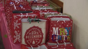 Visitors to the centre were given gift bags