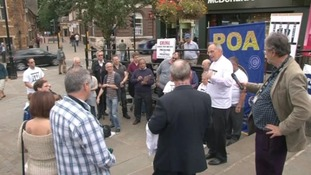 Protest against planned prison closure