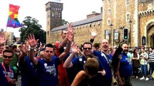 Cardiff Mardi Gras parade