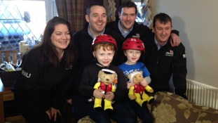 Cumbria floods: two boys rescued with promise of lifeboatman helmets given their reward