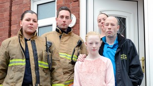 Family have lucky escape after faulty Christmas tree lights catch fire