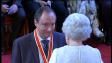 Professor Sir Keith Porter receiving his knighthood