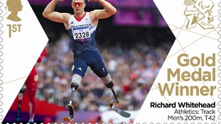 Stamp celebrating Richard Whitehead's gold medal