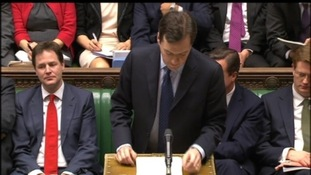 Chancellor George Osborne delivering the Budget