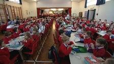 Ocklynge Junior School lunch hall